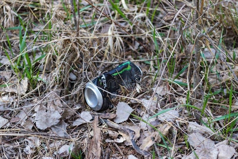 O lixo saiu no parque por povos fotos de stock royalty free