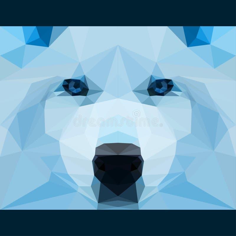 O lobo selvagem olha fixamente para a frente Natureza e fundo do tema da vida de animais Ilustração poligonal geométrica abstrata ilustração stock