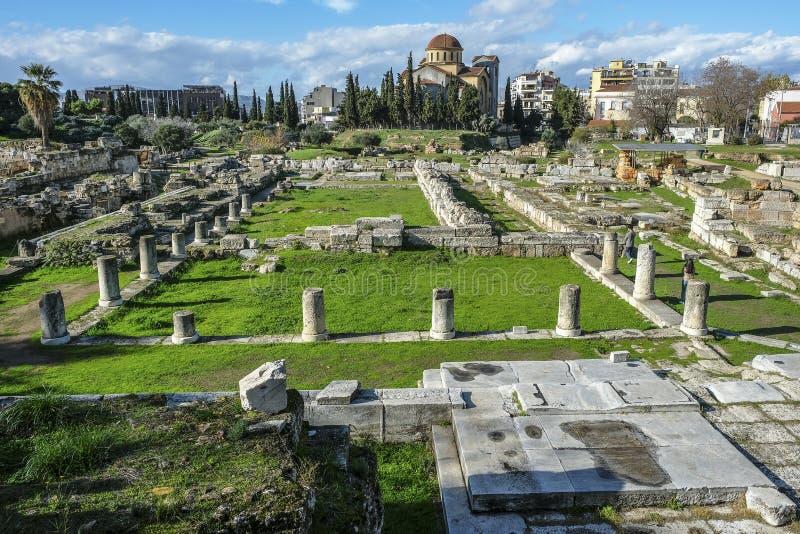 O local arqueológico de Kerameikos em Atenas, Grécia fotos de stock royalty free