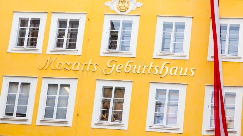 O local de nascimento de Wolgang Amadeus Mozart imagem de stock royalty free