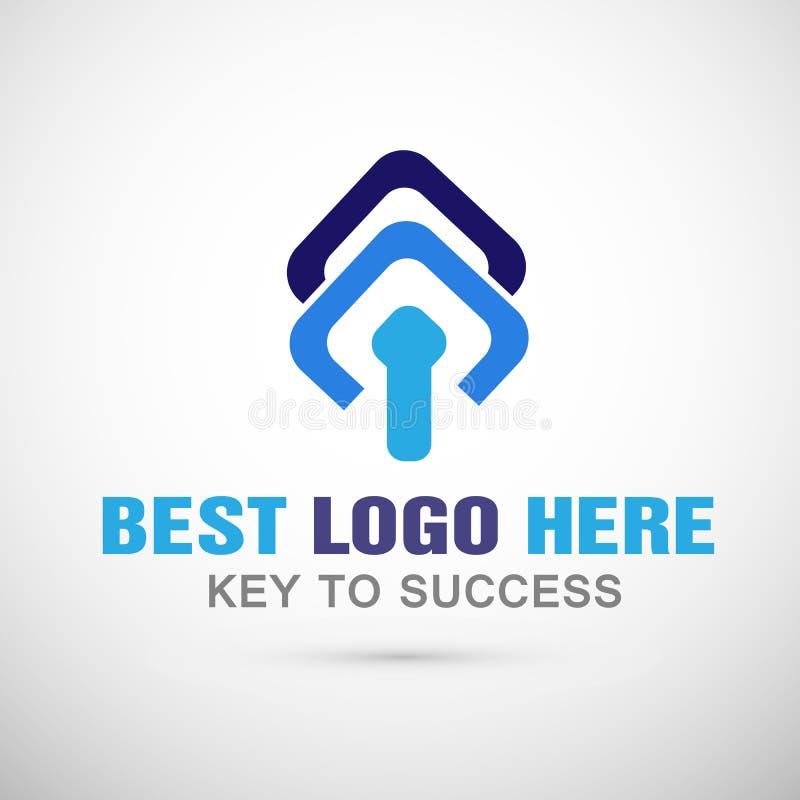 O logotipo abstrato do negócio do logotipo do vetor para a empresa, sucesso em incorporado investe do logotipo executivos do proj ilustração royalty free