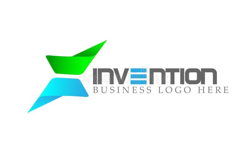 O logotipo abstrato, setas deu forma ao sentido focalizado em incorporado investe o projeto do logotipo do negócio Ícone do conce ilustração stock