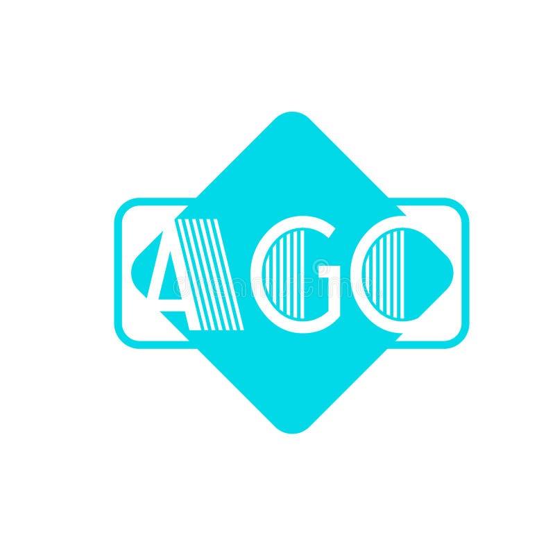 O logotipo AGC datilografa dentro a caixa ilustração royalty free