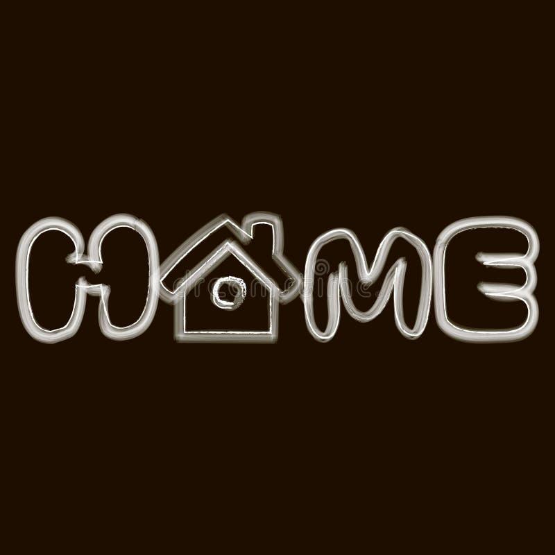 O logotipo da casa da palavra ilustração stock
