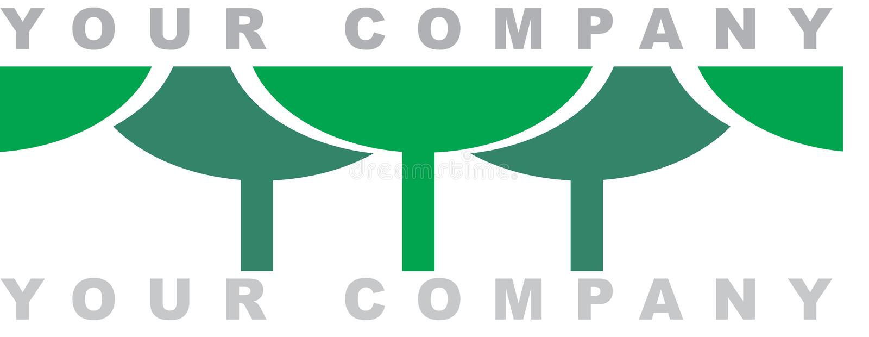 O logotipo da floresta ilustração stock