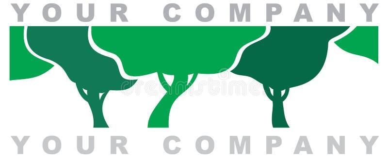 O logotipo da floresta ilustração royalty free