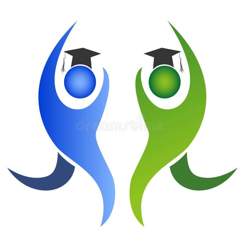 O logotipo da graduação ilustração royalty free