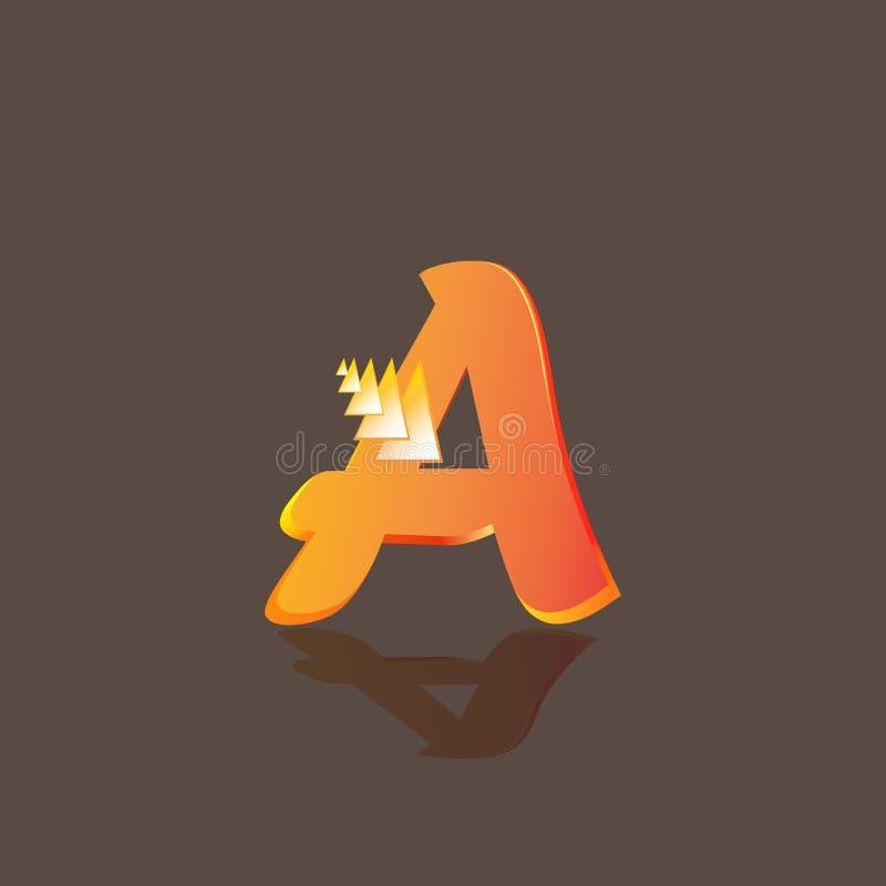 O logotipo da letra A ilustração royalty free