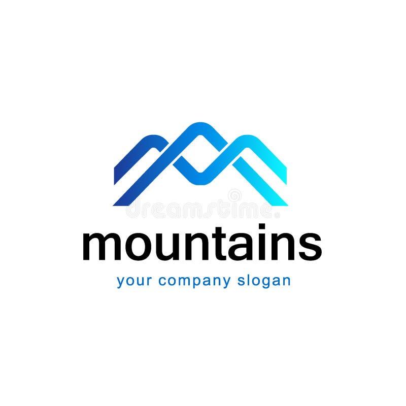 O logotipo da montanha, conceito de projeto do vetor para o esqui ostenta, turismo, lazer ativo ilustração royalty free