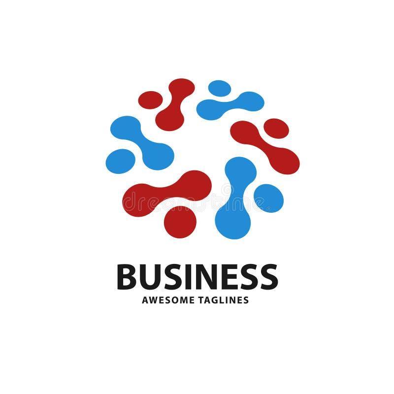 O logotipo da tecnologia com ponto do círculo conecta ilustração royalty free