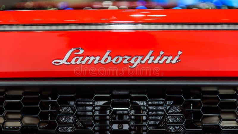 O logotipo de Lamborghini Huracan LP 580-2 imagens de stock royalty free