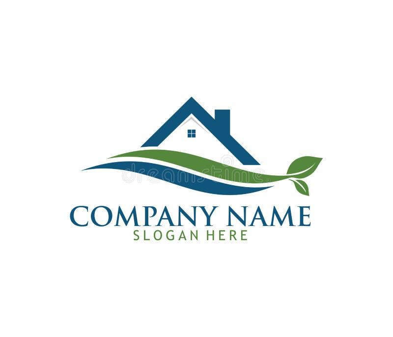 O logotipo de lavagem de limpeza do vetor da manutenção do agregado familiar do serviço projeta ilustração do vetor