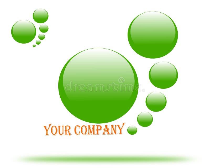O logotipo de tiragem da empresa é sua empresa ilustração royalty free