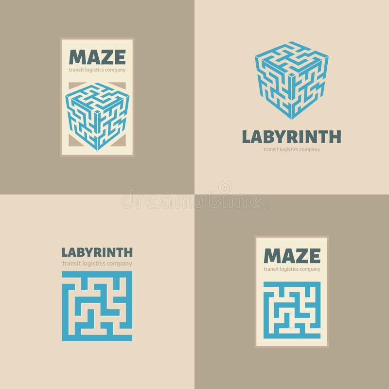 O logotipo do labirinto fotografia de stock royalty free