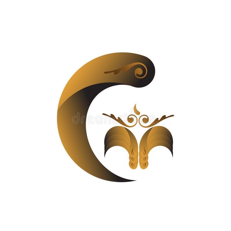 O logotipo do Ornament G ilustração stock