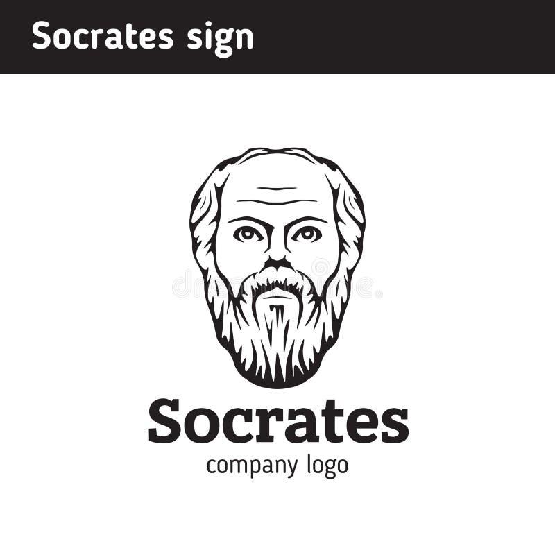 O logotipo do retrato é encurtado, ilustração stock