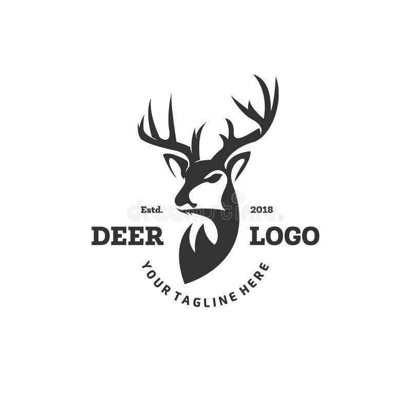 O logotipo dos cervos projeta inspirações, logotipo do clube de caça ilustração do vetor