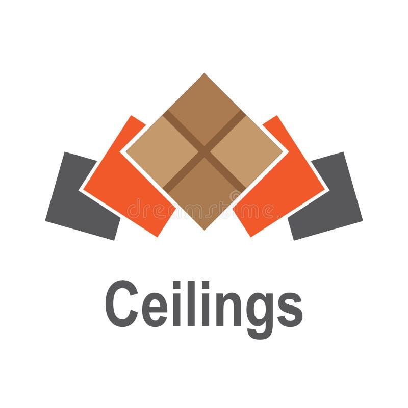 O logotipo dos tetos, assoalhos imagens de stock