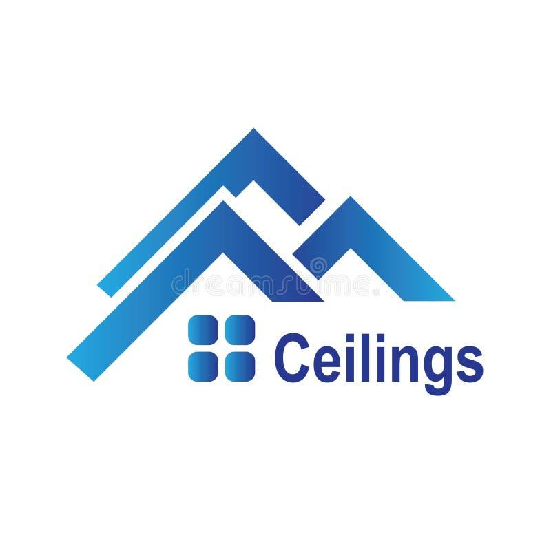 O logotipo dos tetos, assoalhos imagem de stock