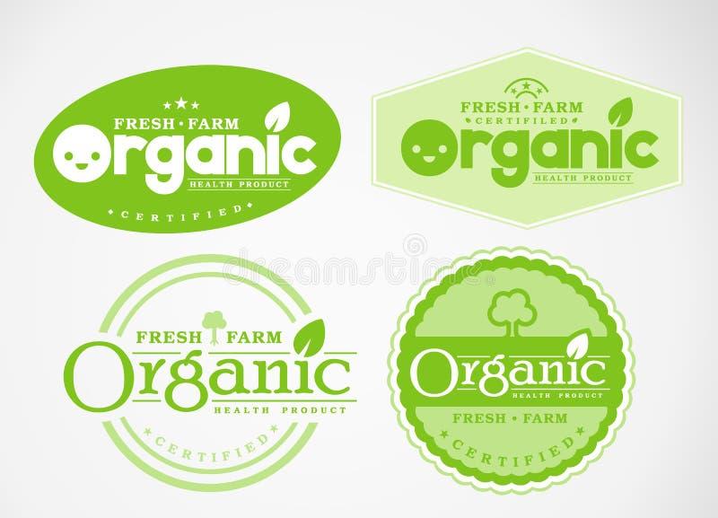 O logotipo e o símbolo projetam orgânico fotos de stock