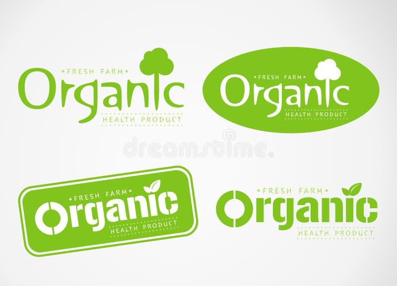 O logotipo e o símbolo projetam orgânico fotografia de stock royalty free