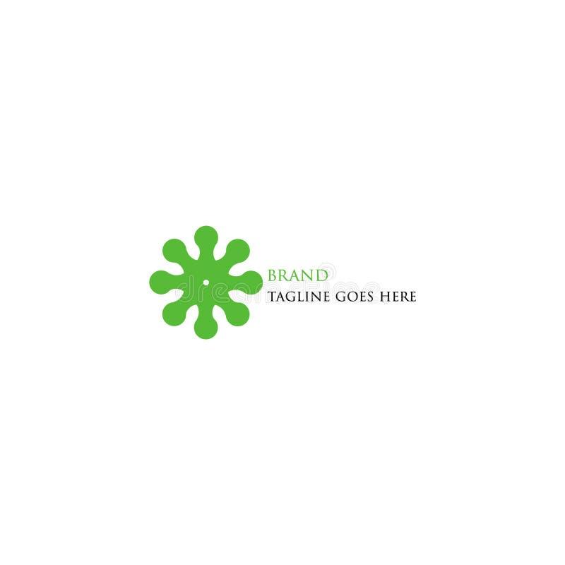 O logotipo verde da tecnologia é simples e atrativo ilustração royalty free
