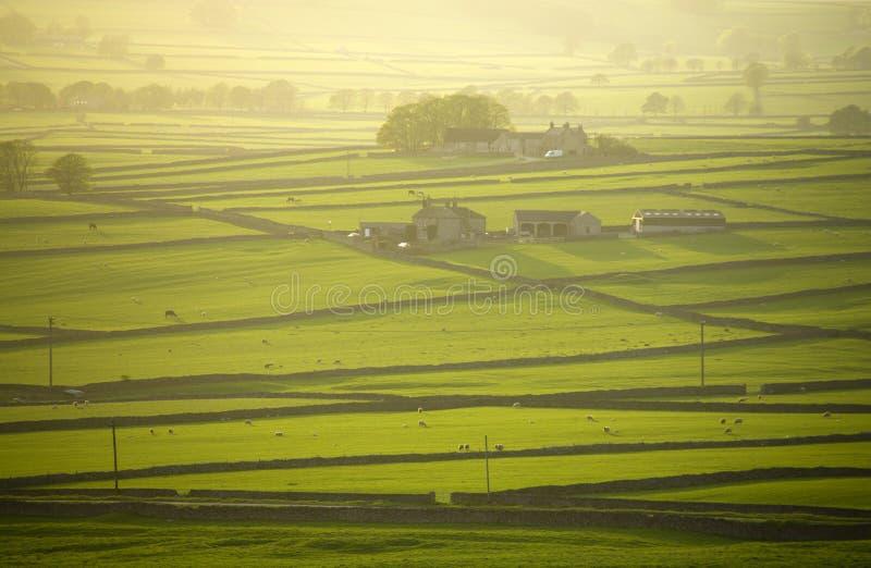 O longstone máximo de derbyshire Inglaterra do parque nacional do distict amarra fotos de stock