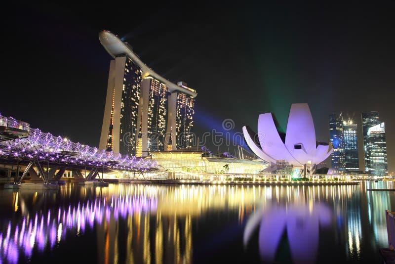 O louro do porto lixa Singapore fotos de stock royalty free