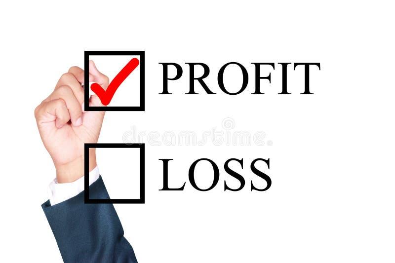 O lucro é o que eu escolho fotos de stock