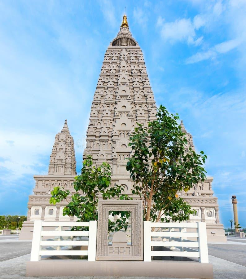 O lugar da réplica onde Gautam Buddha alcançou a iluminação imagem de stock royalty free