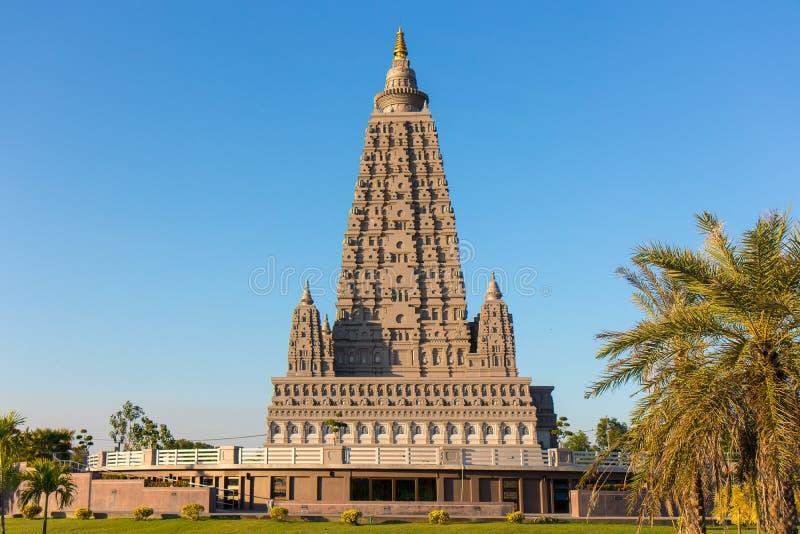 O lugar da réplica onde Gautam Buddha alcançou a iluminação imagens de stock royalty free