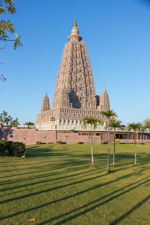 O lugar da réplica onde Gautam Buddha alcançou a iluminação fotos de stock