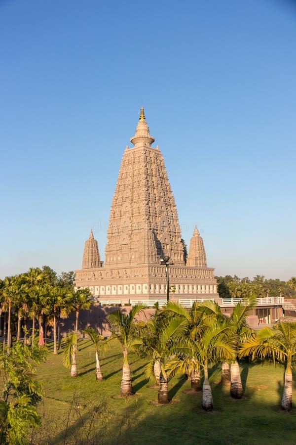 O lugar da réplica onde Gautam Buddha alcançou a iluminação imagens de stock