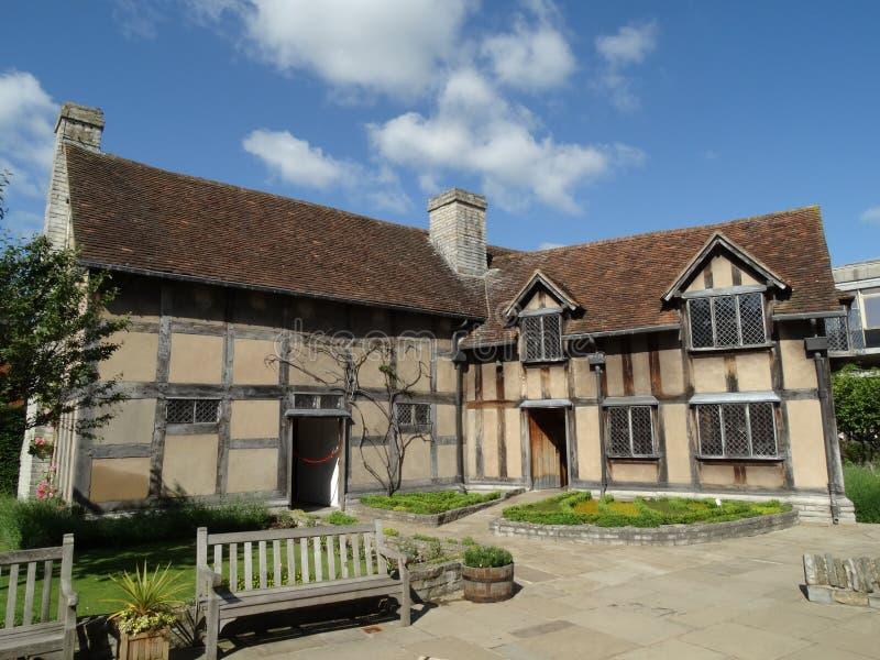 O lugar de nascimento & o jardim de Shakespeare fotografia de stock