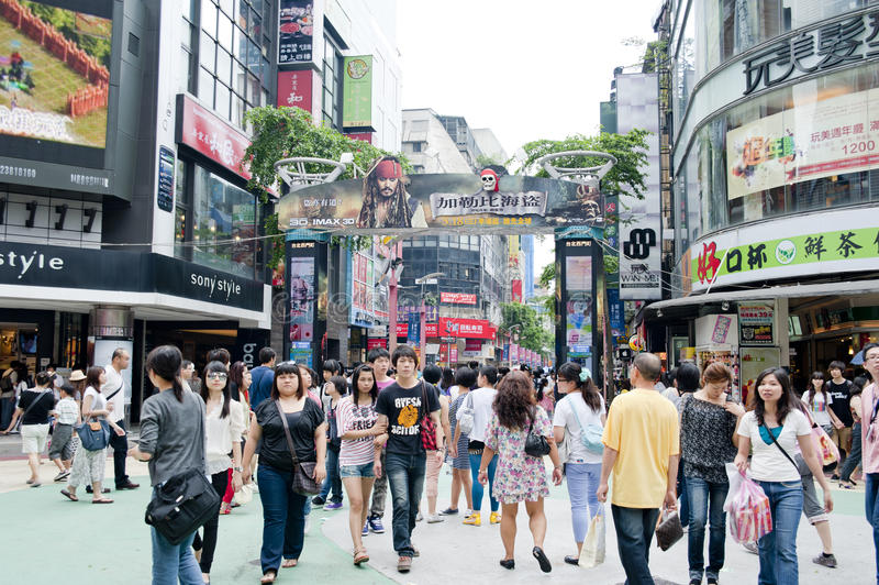O lugar dos jovens de Ximending imagens de stock royalty free