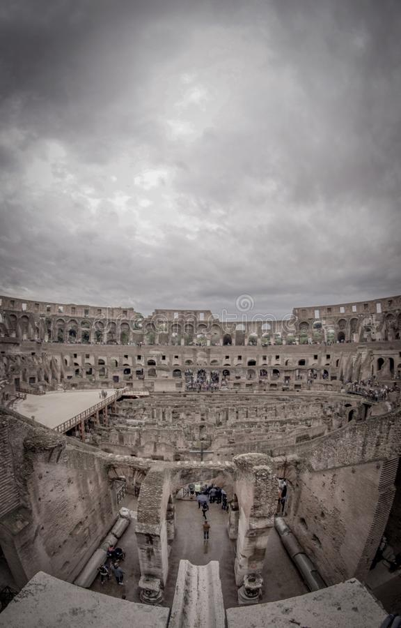 O lugar famoso de Colosseum foto de stock royalty free