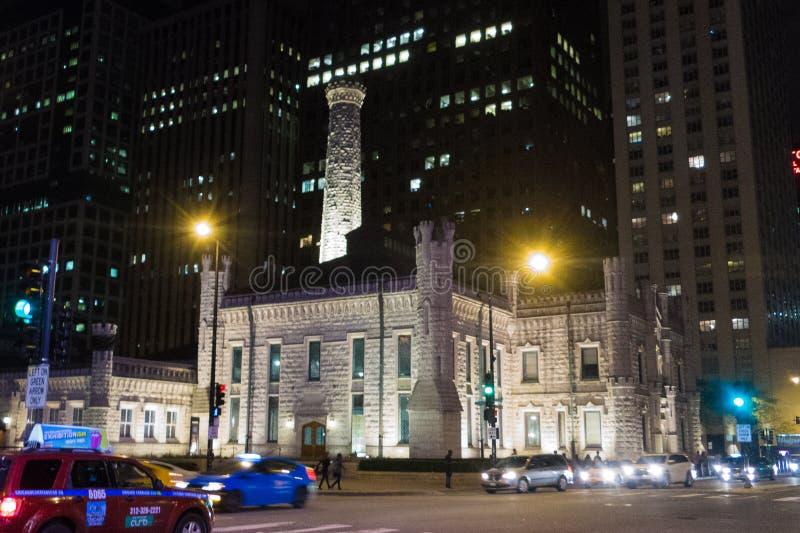 O lugar famoso de Watertower em Chicago imagem de stock royalty free