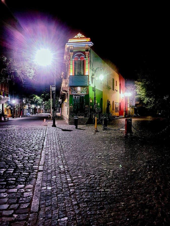 O lugar ideal para passar sua noite romântica: Caminito fotografia de stock royalty free