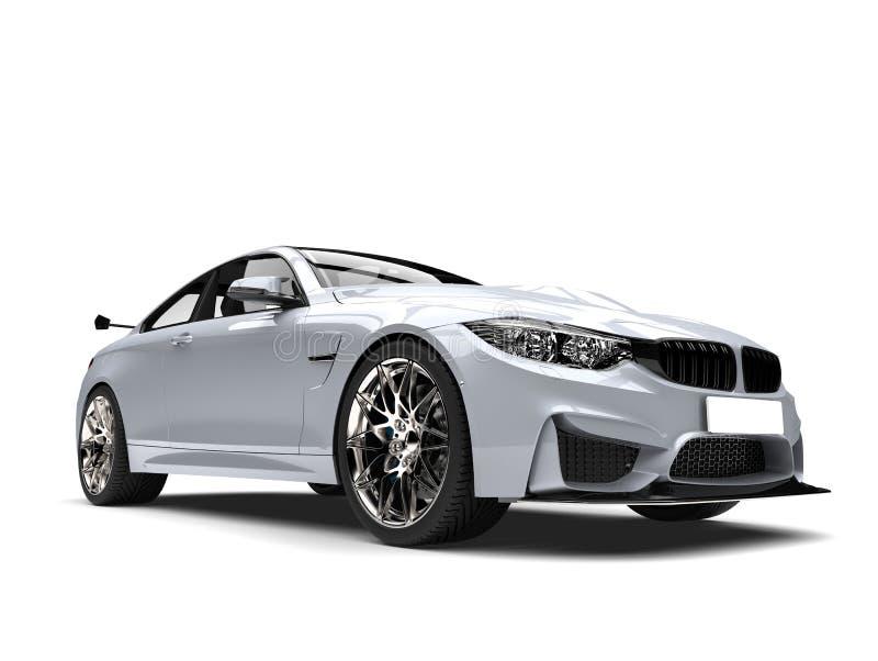 O luxo moderno branco metálico ostenta o tiro automobilístico do close up da beleza ilustração stock