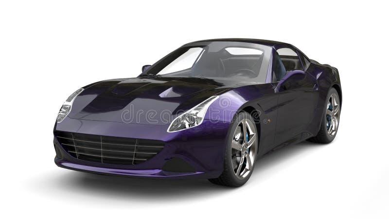 O luxo roxo metálico surpreendente ostenta o tiro automobilístico do estúdio ilustração do vetor
