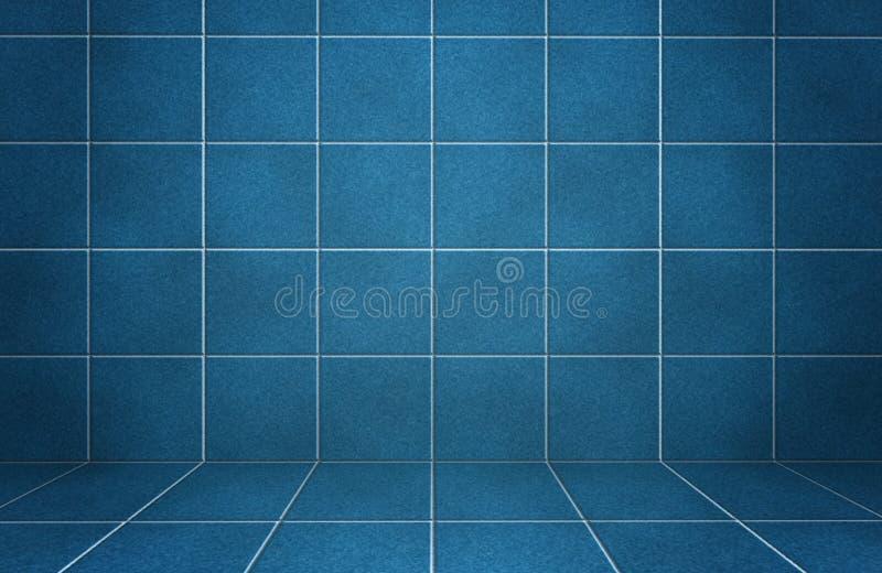O mármore azul interior telhou a parede com sombras ilustração royalty free