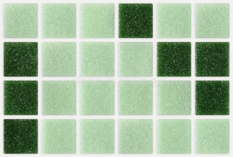 O mármore pequeno telha brilhante quadrado verde imagens de stock royalty free