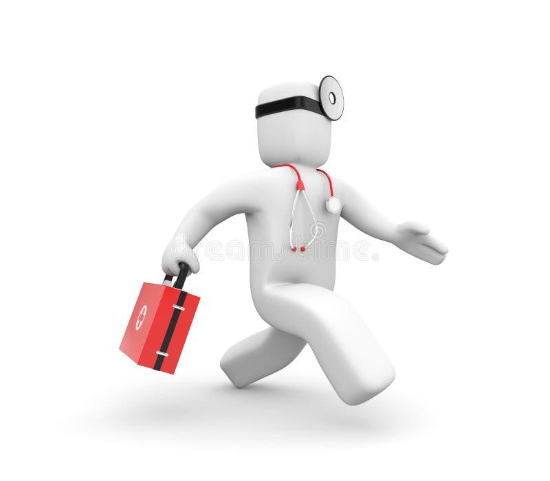 O médico acelera ao dae (dispositivo automático de entrada)