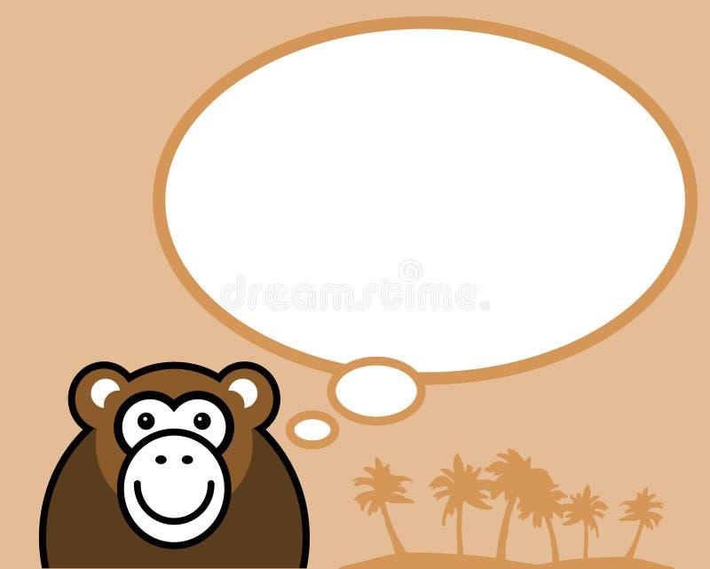 O macaco pensa sobre? ilustração do vetor