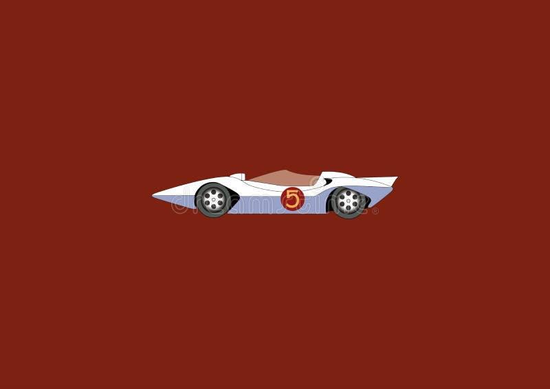 O Mach 5 do piloto da velocidade foto de stock royalty free