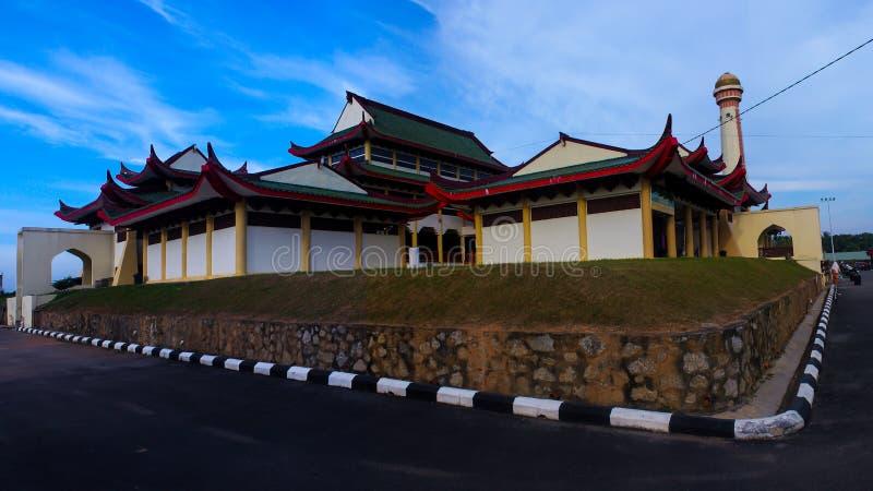 O malaio da mesquita fotografia de stock royalty free
