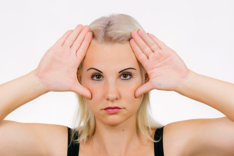 O malar do exercício da cara levanta fotografia de stock