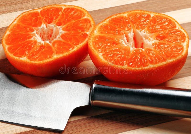 O mandarino alaranjado imagem de stock