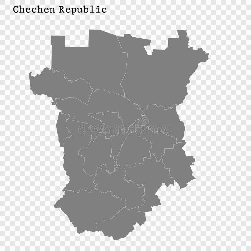O mapa de alta qualidade é uma região de Rússia ilustração royalty free