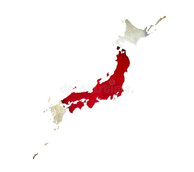 O mapa de Japão isolou-se ilustração royalty free